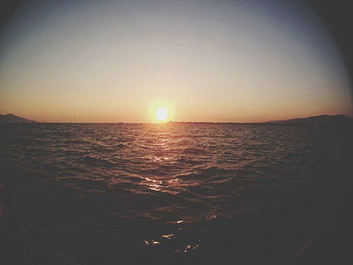 Sunset Fisheye Relaxing