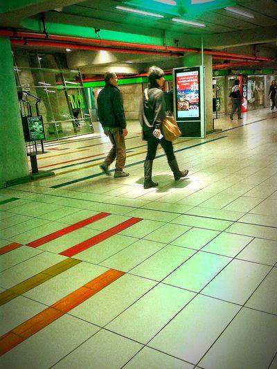 Notes From The Underground Public Transportation People Walking  Eyeem Photography Eyeem Photo Color Eyeem Best Shots Eyeem Gallery Creative Light And Shadow Color Photography Subway Public Transportation Light And Shadow People