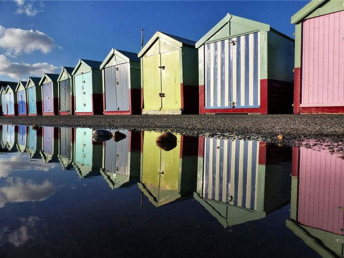 Reflection of built structures in water