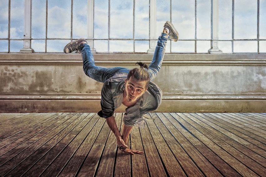 """""""Urban Life."""" Compositing and Retouching by Patrick Mathys // Day Outdoors Lifestyles Only Men Happiness Adults Only One Person Men Portrait Adult People One Man Only Real People Handstand  Breakdancing Breakdance Breakdancer Young Adult Smiling Sky EyeEmNewHere #wood #wooden #one #people #floor #adult #travel #leisure #old #wall #young #lifestyle #indoors #urban #outdoors #portrait #motion #breakdancer #patrickmathys"""
