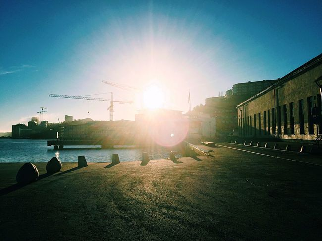 Challenging the sun. Sun Sunrise Sunrise_sunsets_aroundworld Morning Sky Morning Light Morning Bright Lights Sweden EyeEm Nature Lover
