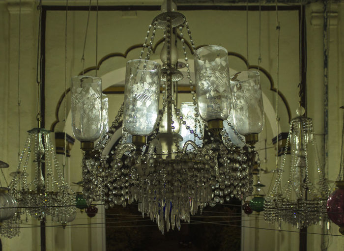 Hanging Decoration Indoors  Lighting Equipment Celebration No People Close-up Crystal Colourful Chandeliers Chandelier Travel Photography Lucknowdiaries Lucknow👌City Lucknowdiaries❤ Shah Najaf, Lucknow
