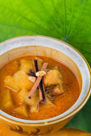 Mussaman Curry Asian  Curry Delicious Food Food And Drink Freshness Indain India Ingredient Leaf Mussaman No People Potato Potatoes Spicy Spicy Food Studio Studio Shot Thai Thailand Yummy
