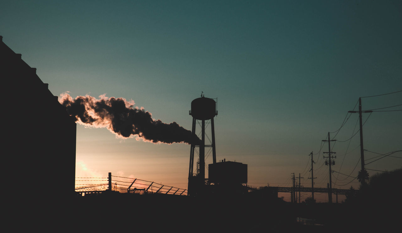Architecture Factory Industry Nature No People Outdoors Silhouette Sky Smoke Sunset Urban