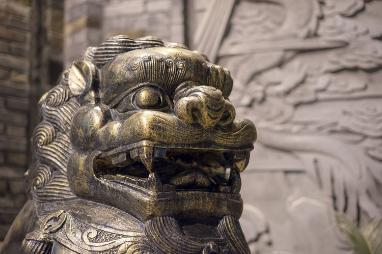 lion Sculpture Art And Craft Representation Statue Human Representation Creativity Craft Religion Architecture Spirituality Belief History The Past Focus On Foreground Male Likeness Close-up Built Structure Building No People Ornate