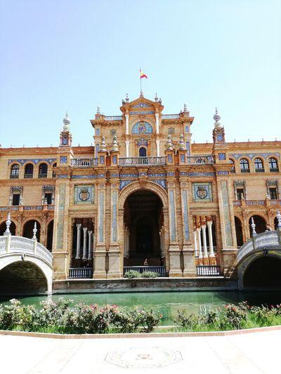 La Plaza De Espana Sevilla Andalucía España Seville Espagne Histoire Andalusie Historical Building Historical Monuments Historical Spain ✈️🇪🇸 Spain, Andalucia