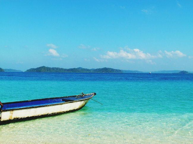 India Andaman Sea Blue Sea Nature Breathing Space