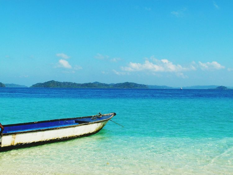 India Andaman Sea Blue Sea Nature Breathing Space