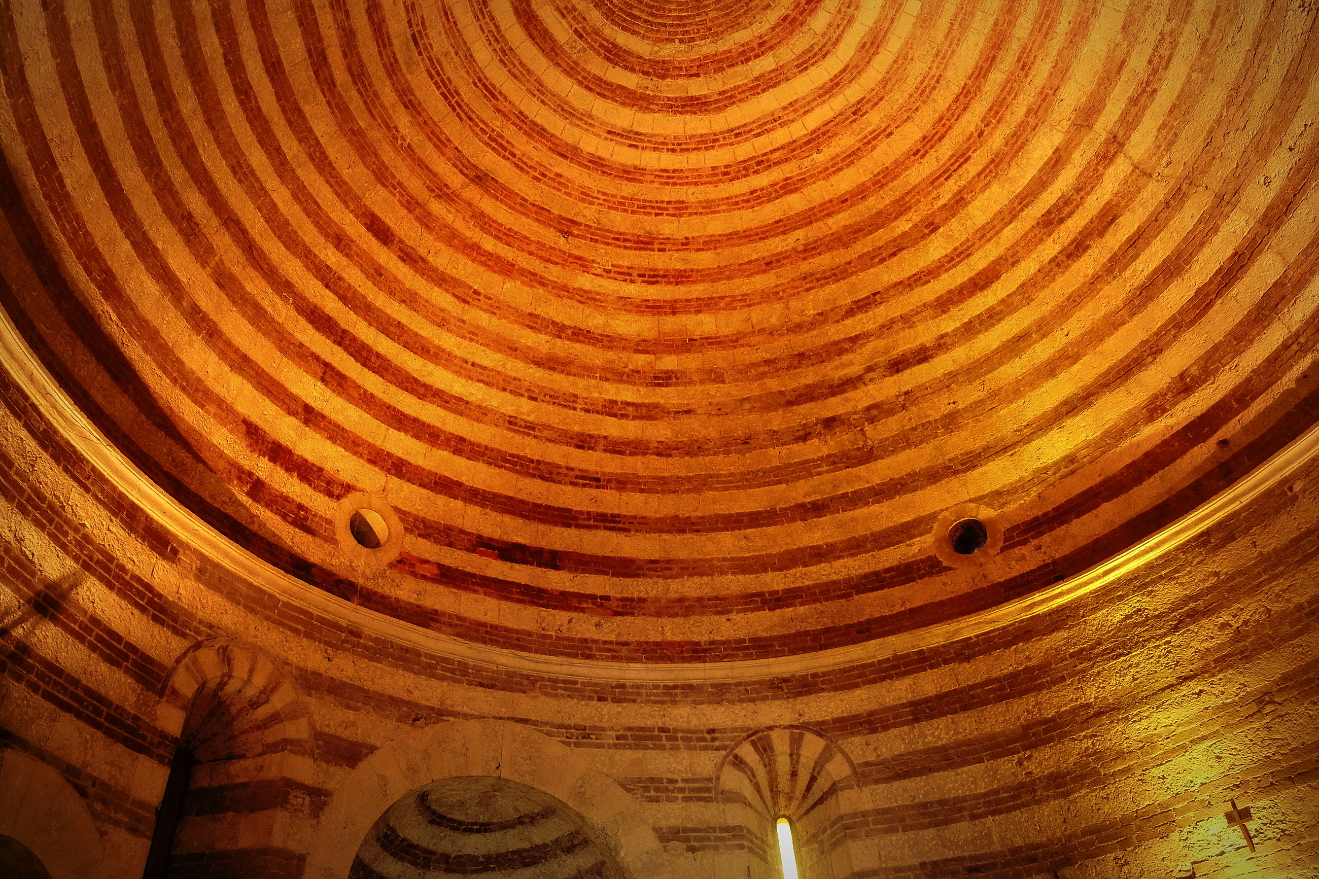 pattern, no people, indoors, architecture, full frame, backgrounds, built structure, history, low angle view, ceiling, the past, textured, wood - material, day, wood, ancient, shape, building, design, carving