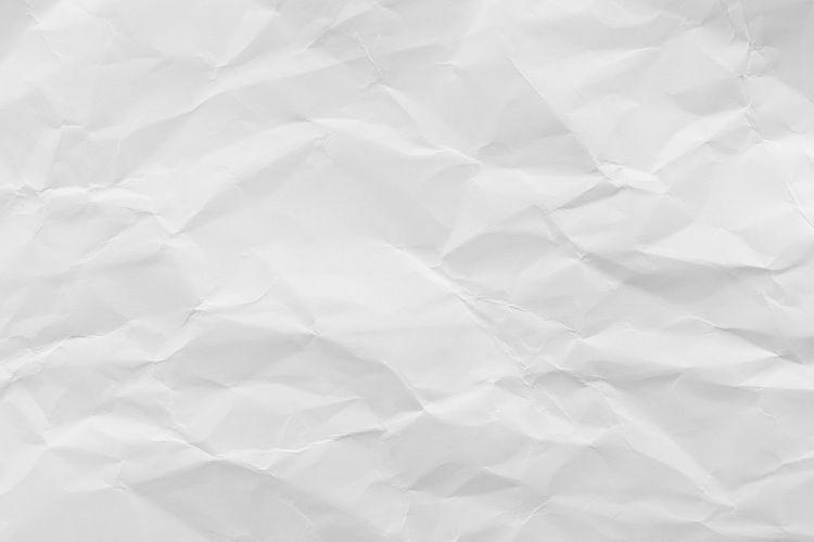 White crumpled
