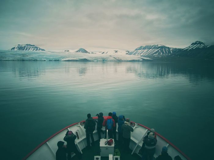 arctic cruise Lost In The Landscape Arcitic Beauty In Nature Cruise Day Glacier Mountain Nature Outdoors Real People Scenics Sky Standing Togetherness Tranquility Water