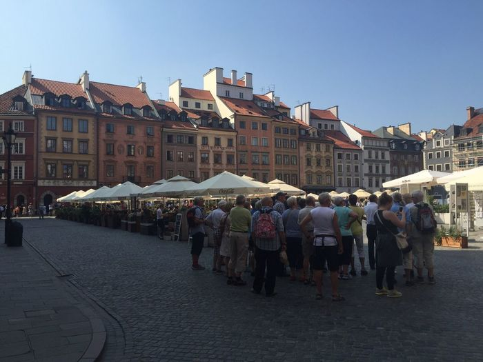 Old Square History Culture Warsaw UNESCO World Heritage Site Square Old Town Large Group Of People Building Exterior Architecture Real People Built Structure Men Women Market
