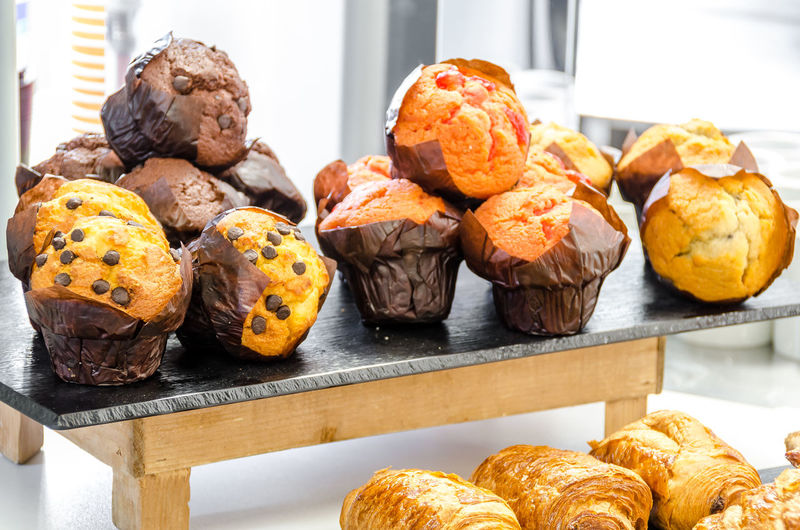 Close-Up Of Muffins For Sale In Store