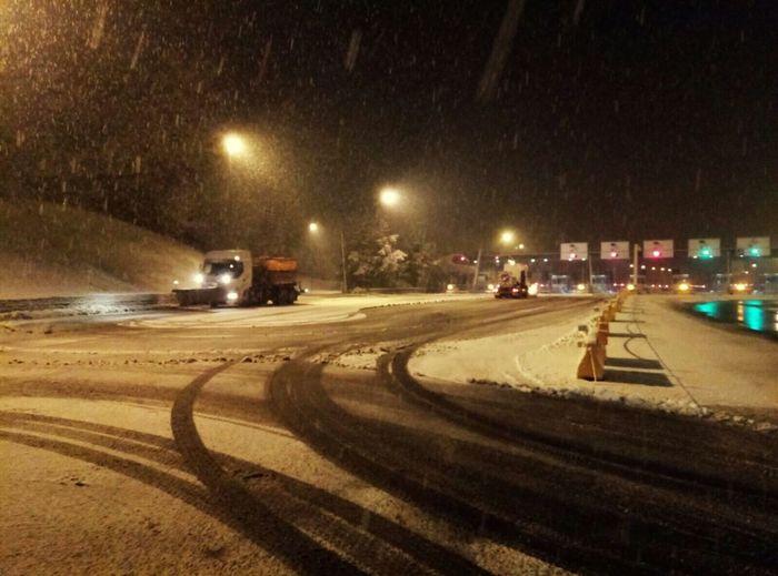 Illuminated Road Autostrada Snow ❄ Ice Highway