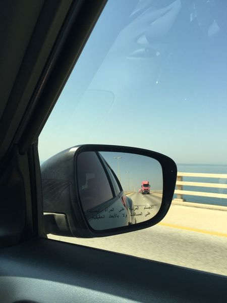 Pink truck Drive By Photography Journey Land Vehicle Rear View Rear View Mirror Side Mirror Truck