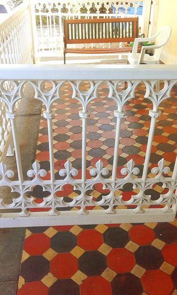 Pattern Tiles Tiled Floor Design No People Old Gate Old Gates Iron Gate Ironwork  Gate Old Iron Gates Old Gateway Gates Gateporn Gateways Gateway Tile