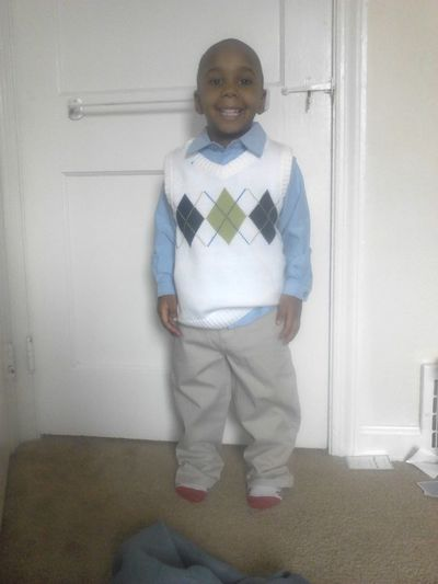 My lil cousin all ready for church