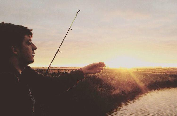 Fishing Sunset Bridge Over Water Photography Boerebuiten Blankenberge Paling