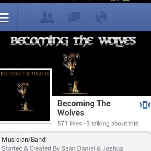 Hey guys go like my band on Facebook we should be uploading music soon Becomingthewolves New Band Music guitar musicians Facebook