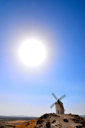Blue Clear Sky Consuegra Spain España Hot Days Of Summer La Mancha Landscape Moinho Molino Molinos De Viento Moulin Mulino Rural Scene Sun Sunlight Toledo Spain Tranquil Scene Warm Day Windmills Windmühle ветряная мельница طاحونة هوائية 風車 風車公園 풍차