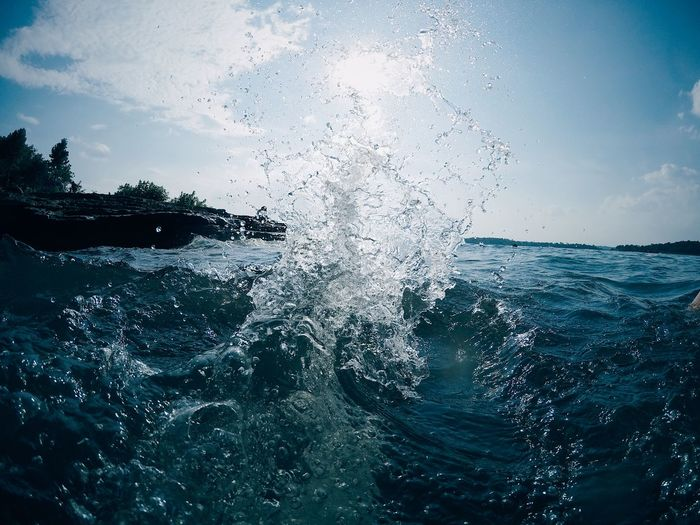 Water Splashes Animal Themes Beauty In Nature Day Explosion Motion Nature No People Outdoors Rippled Scenics Sea Sea Life Sky Speed Splash Splashes Splashing UnderSea Water Water Bomb Water Explosion Water Splash Water Splashing Waterfront Wave