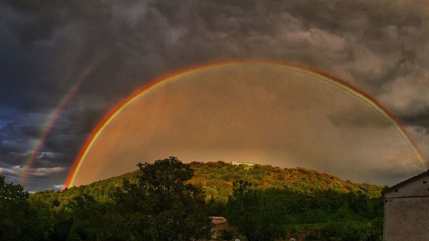 Rainbow Rainy Days Colors Colorful Nature Landscape Gray Sky The Great Outdoors - 2016 EyeEm Awards