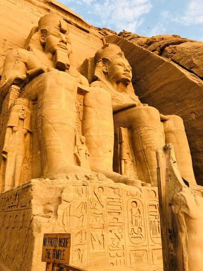 Abu Simbel. Abusimbel Travel Destinations History Ancient Art And Craft The Past Architecture No People Nature Built Structure Sculpture Tourism Creativity Travel Ancient Civilization Old Ruin Archaeology Sunlight Outdoors