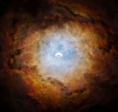 Eclipse Lunar Eclipse Clouds Sky Moon Dramatic