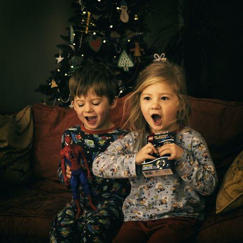 The joy of Christmas Christmastime Christmas Decorations Joy Innocence Childhood Presents Happiness Family Family❤ Family Time Enjoying Life