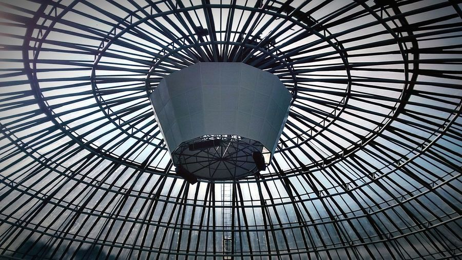 Low Angle View Architecture Pattern Built Structure No People Concentric Backgrounds Day Modern Dome City Sky Indoors  EyeEmNewHere Curitibacool