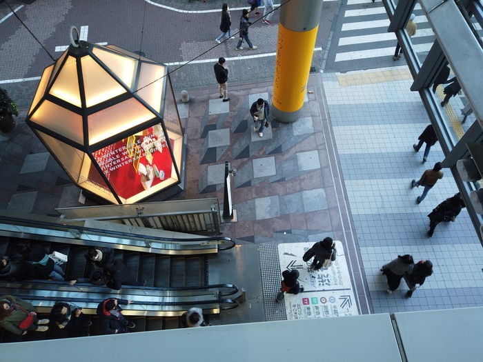 Streetphotography Urban Cityscape City People Urban Life Tokyo Japan Travel Escalator High Angle View Architecture Group Of People Real People Built Structure Women Men Building Transportation Staircase Day Indoors  Large Group Of People Mode Of Transportation Incidental People Walking Crowd Lifestyles