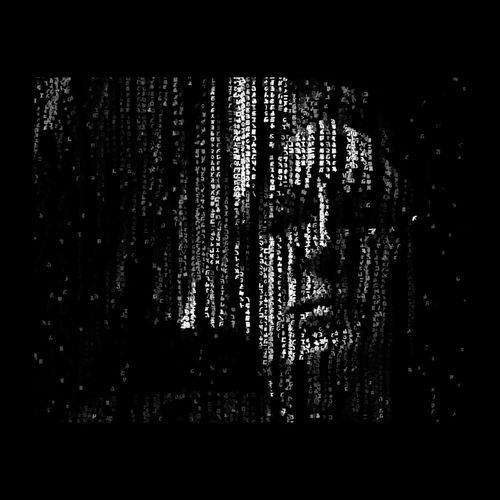 Il pleuvait des lettres & des chiffres, personne ne se reconnaissait... Autoportrait Selfportrait Self Portrait Blackandwhite Black And White Black & White Matrix Abstractart Darkness And Light EyeEmBestPics
