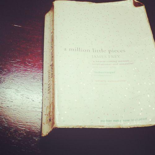 A Million Little Pieces Amillionpieces Book Bookmakemefeelhapp Indoors  Nicebook Old-fashioned Single Object Singleboo Western Script