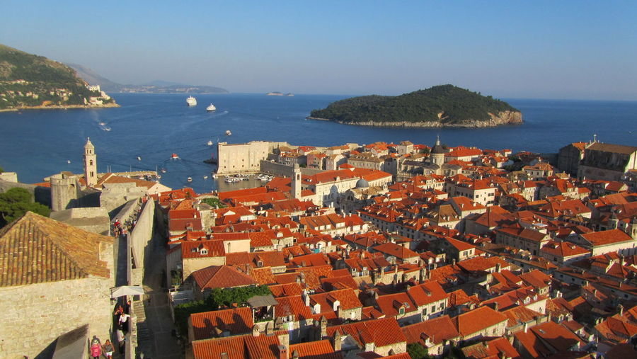 Dubrovnik Croatia Adriatic Sea Sea Water Built Structure House Building Exterior Architecture High Angle View Town City Travel Destinations Blue Tourism Island EyeEm Nature Lover