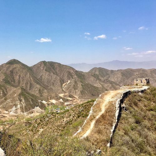 Chinese Great Wall Mountain Nature Beauty In Nature Landscape Outdoors High Angle View Scenics Mountain Range Tranquility Cloud - Sky Hebei The Great Outdoors - 2017 EyeEm Awards Live For The Story Chinese Great Wall Chinese Great Wall China Great Wall China Photos China Let's Go. Together. Sommergefühle Lost In The Landscape