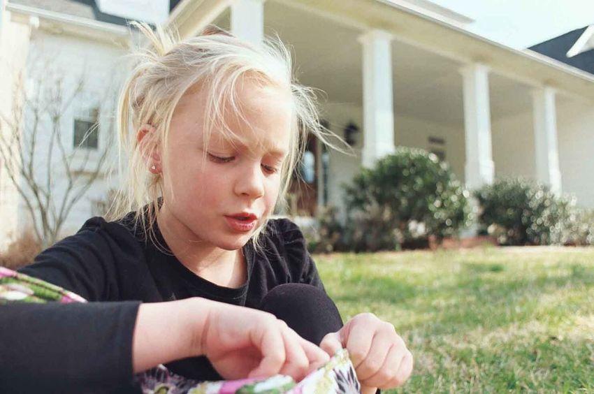 North Carolina Sister Blond Hair Childhood Contemplation Girls One Person Portrait