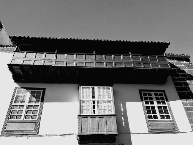 Architecture Built Structure Building Exterior No People Day Low Angle View La Laguna Balcony Balcon Blackandwhite Canary Business Finance And Industry Sky Outdoors Politics And Government