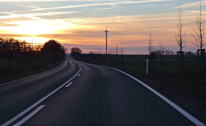 An empty road