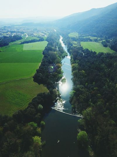 Tree Aerial View Landscape Day Agriculture Outdoors No People Forest Shadow Rural Scene Nature Scenics Water Beauty In Nature Sky Catalunyaexperience Excursions Excursion In The Natur Green Color Piensaenverde Tranquility River Rio Riu