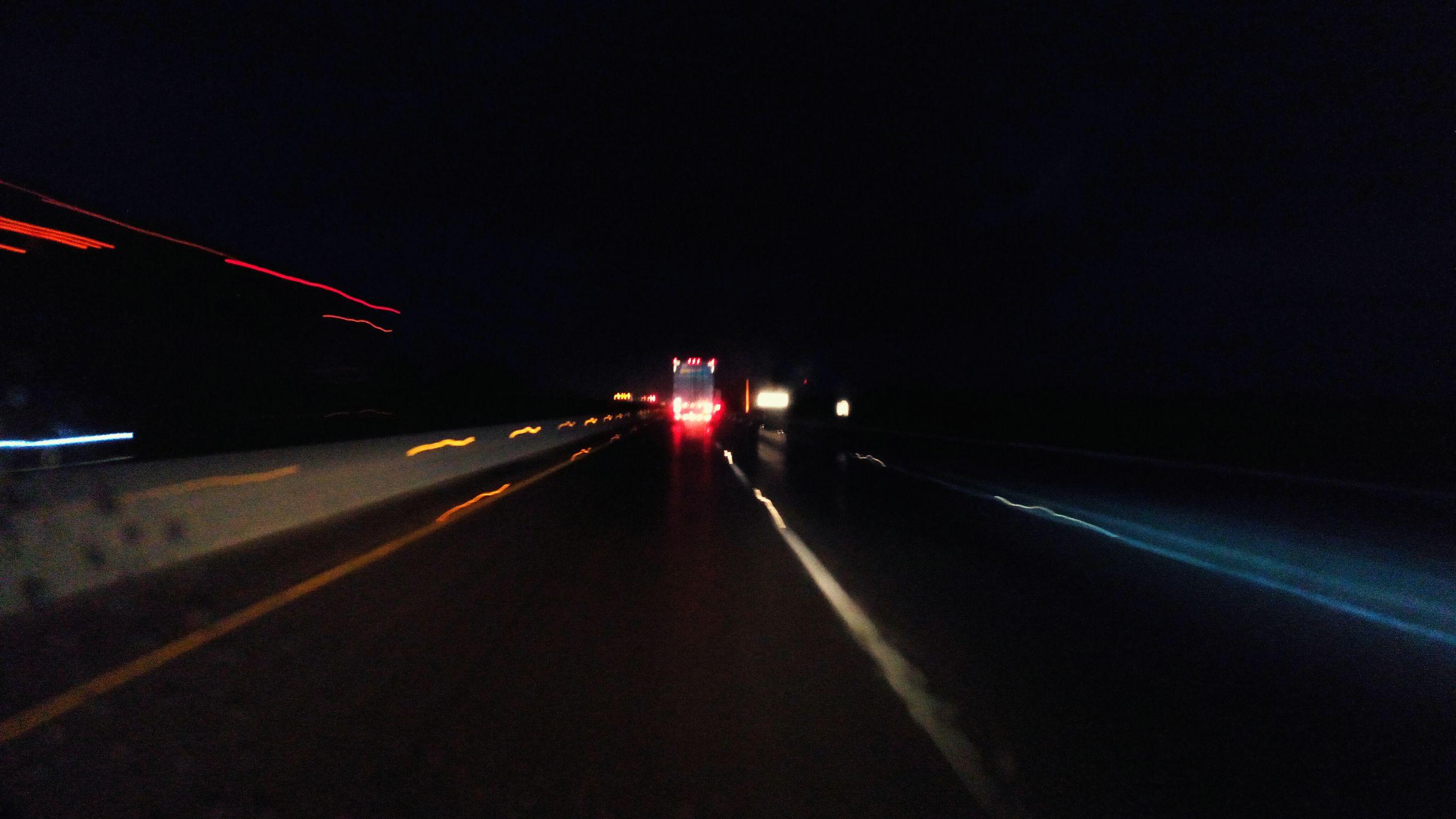 transportation, illuminated, night, the way forward, road, road marking, diminishing perspective, vanishing point, light trail, no people, empty, outdoors, dark