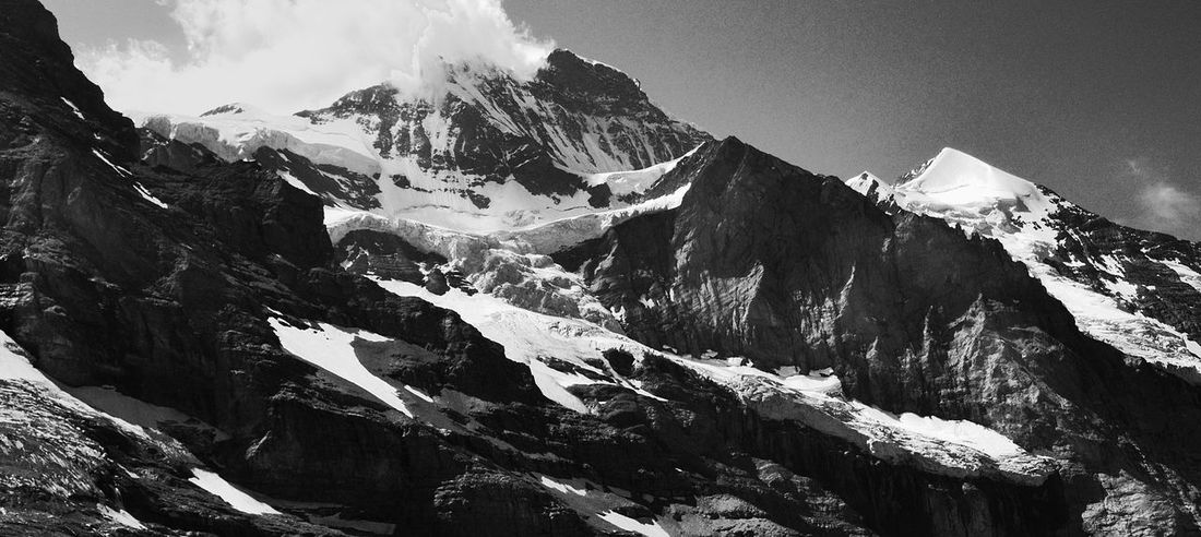 Trekking Alpinism Alps Beauty In Nature Cold Temperature Day Eiger Jungfrau Landscape Mountain Mountain Range Nature No People Outdoors Physical Geography Scenics Sky Snow Snowcapped Mountain Switzerland Tranquil Scene Tranquility Winter