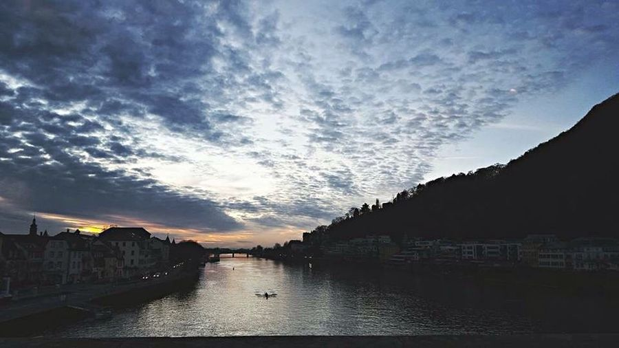 Heidelberg Sky River Water Nature Cloud - Sky Outdoors Nature Beauty In Nature First Eyeem Photo