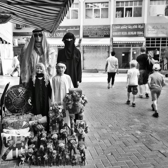 Monochrome Photography Tourists Marketplace