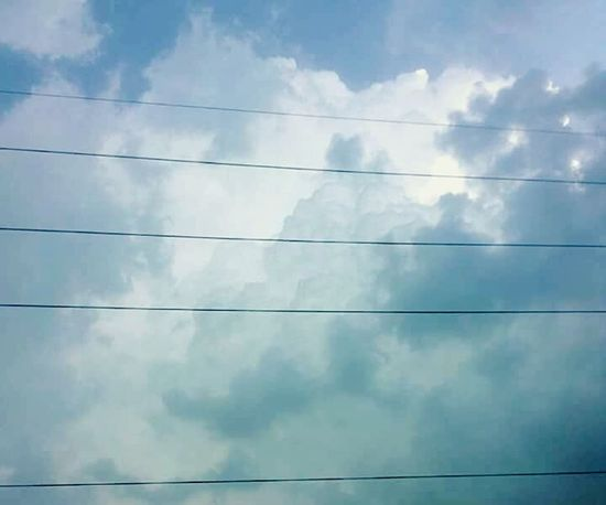 clear blue Cloud - Sky No People Cable Outdoors Backgrounds Sky Blue Day
