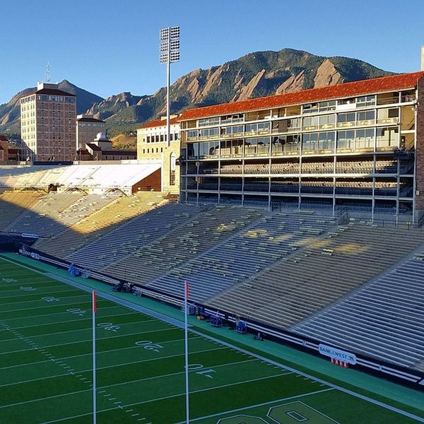 Gameday at Colorado Collegefootball UCLA  @ Cu kickoff in a few short hours. Beautiful sunny fall day for some football