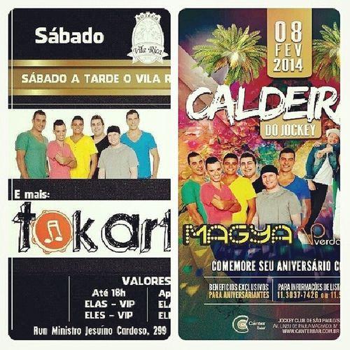 Hoje tem MaGya no Vila Rica e logo na sequência Magya e Vp no Canter Jockey Club Vemtodomundooo