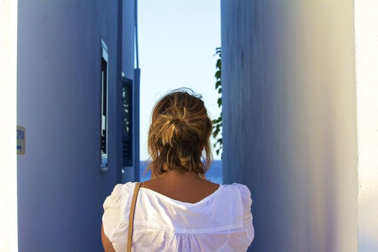 Looking the peace of the sea Close-up Colors Crete Curiosity Day Greece Head And Shoulders Headshot In Front Of Indoors  Lenta Lifestyles Looking Rear View Seaview Travel Window Windowù Woman Live For The Story