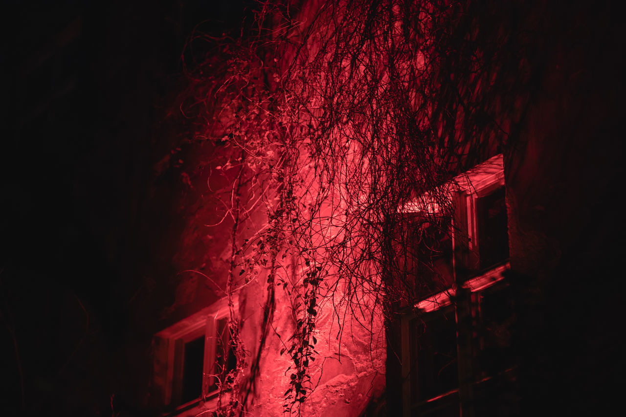 night, red, no people, illuminated, indoors