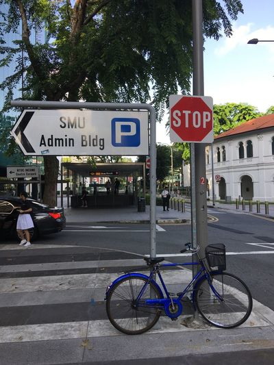 Drop Off Bicycle Stop Sign Road Sign Location Sign School Girl Illegal Parking Mode Of Transport Transport Equipment