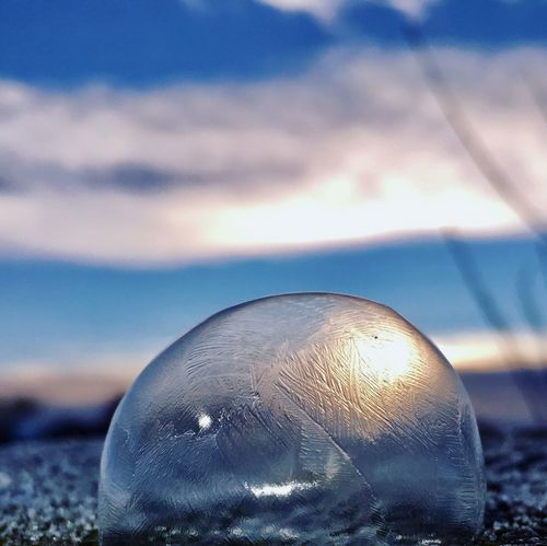 A Frozen Sunrise Clouds And Sky Cloud - Sky Cold Temperature Winter Cold Naturelovers Nature Photography Nature_collection Nature Clouds Sky Bubble Frozen Sunrise Focus On Foreground Close-up No People Sky Outdoors Nature Beauty In Nature